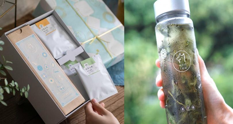 琅茶的「冷泡茶禮盒」包含冷泡水壺與綜合茶包組。(780元,圖/Pinkoi提供)