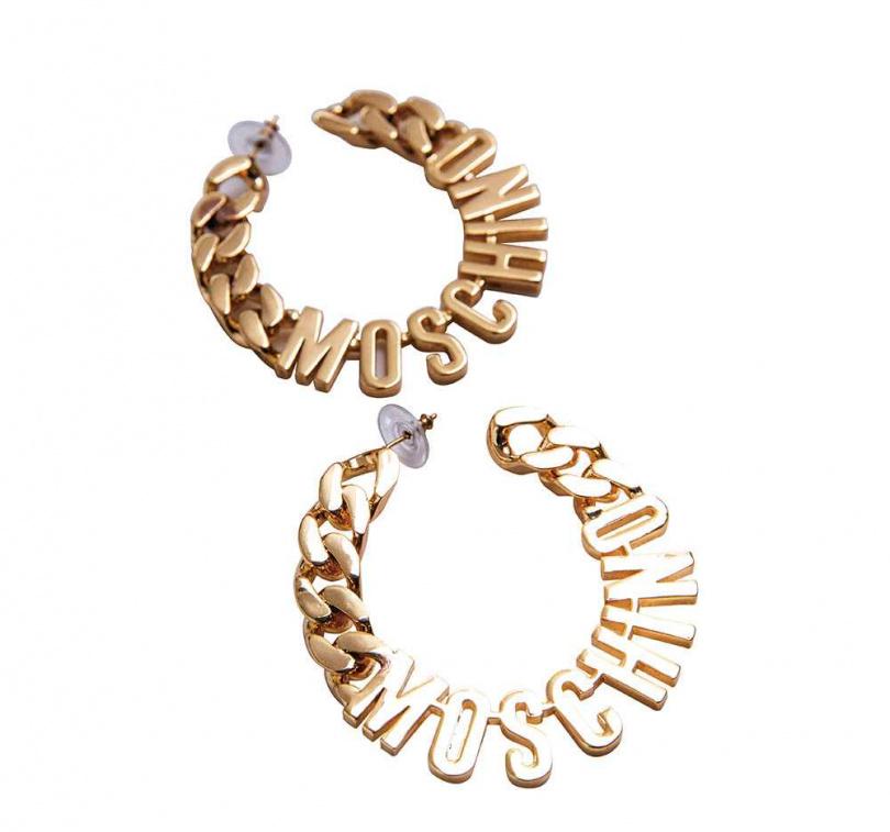 MOSCHINO× H&M 耳環/1,299元(圖/莊立人攝)