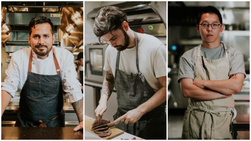 Chef Gaston、Chef Marco及Chef Xavier三位主廚輪番上陣(左至右)