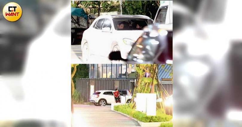 吳怡霈和楊子儀去年8月被本刊直擊,兩人在車上約會共4個多小時。(圖/攝影組)