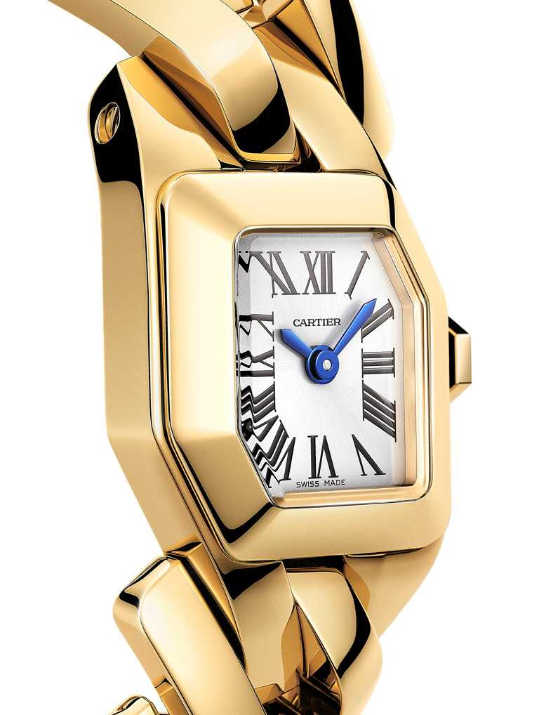 CARTIER「Maillon de Cartier」系列腕錶,黃K金款╱775,000元。(圖╱CARTIER提供)