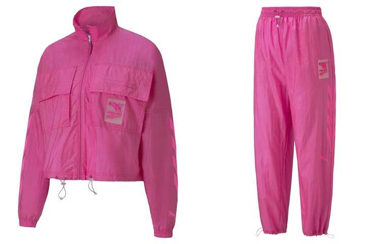 推薦你可以這樣買>>PUMA流行系列Evide風衣外套/2,780元/PUMA流行系列Evide長風褲/2,380元(圖/品牌提供)