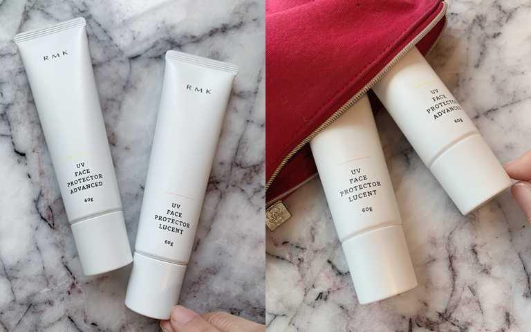 RMK全新升級版的「UV防護乳(高效保濕型)」和「UV防護乳(透光勻色型)」,從外包裝上就有改良,將胖胖瓶變成瘦長型管身,容量加大卻更方便隨身攜帶。(圖/吳雅鈴攝影)