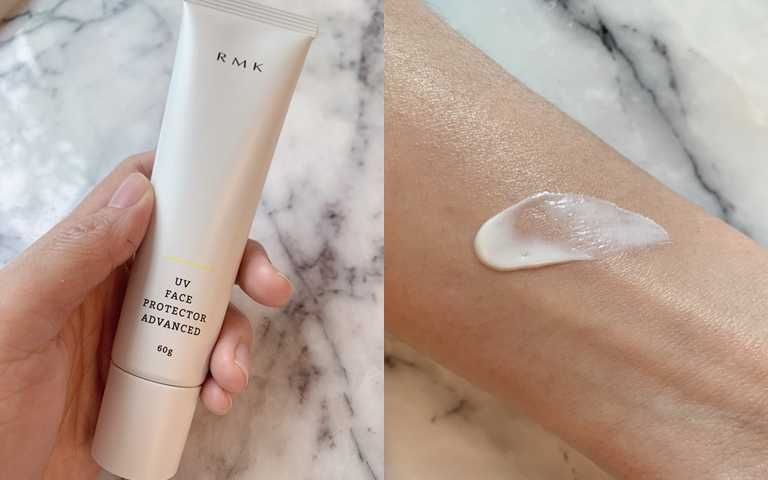 RMK UV防護乳(高效保濕型) SPF50+‧PA++++ 60g/1,300元添加敏弱肌OK的護膚保養成分,這瓶防曬就連小朋友也能安心使用喔。(圖/吳雅鈴攝影)