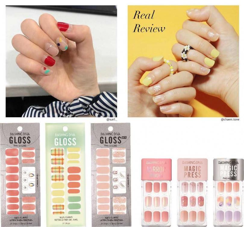 在韓國超受歡迎的DASHING DIVA時尚光療美甲貼片系列,就算是手殘人也能自己DIY美甲。(圖/品牌提供、IG@dashingdiva_official)