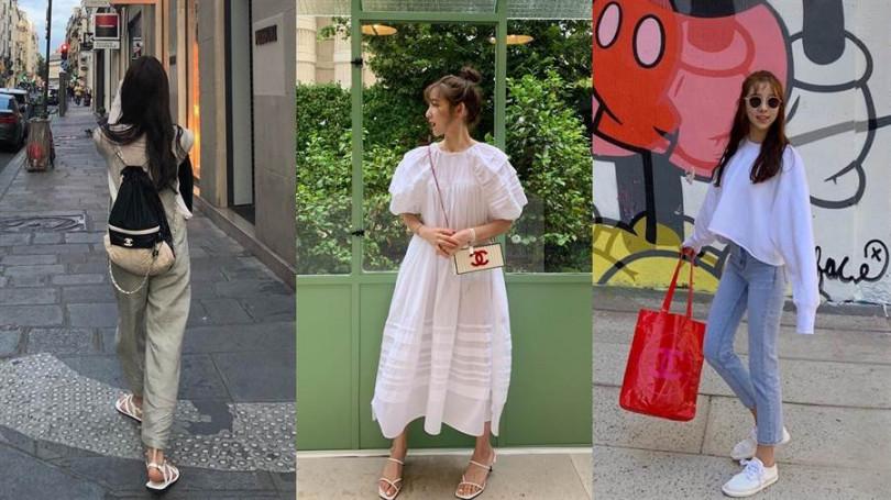韓國人氣時尚部落客用CHANEL搭出女孩必學的私服Style/翻攝自ig_moi_nani