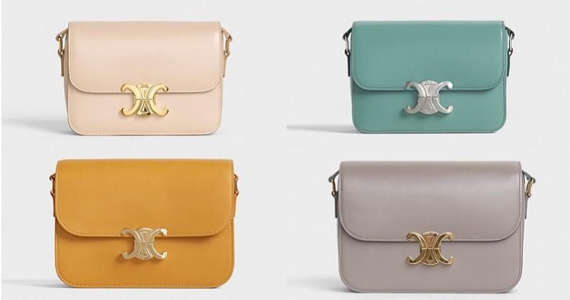 跳脫包包的色彩刻板印象,披上糖果少女新色,是這次早秋款一大亮點。(圖/CELINE提供)