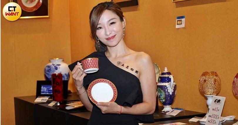 張宇26日出席陶瓷精品活動。(攝影/張祐銘)