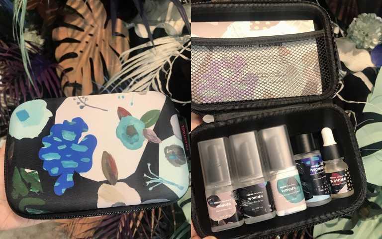 哈露哈露護膚旅行套組一次完整收錄5大haruharu明星保養品,搭配高質感旅行箱型化妝包,完美你的潮流護膚態度。haruharu哈露哈露護膚旅行套組1,980元(圖/黃筱婷攝影)