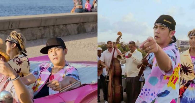《Mojito》MV中,周杰倫在古巴邊走邊跳的花襯衫(圖/周杰倫IG)