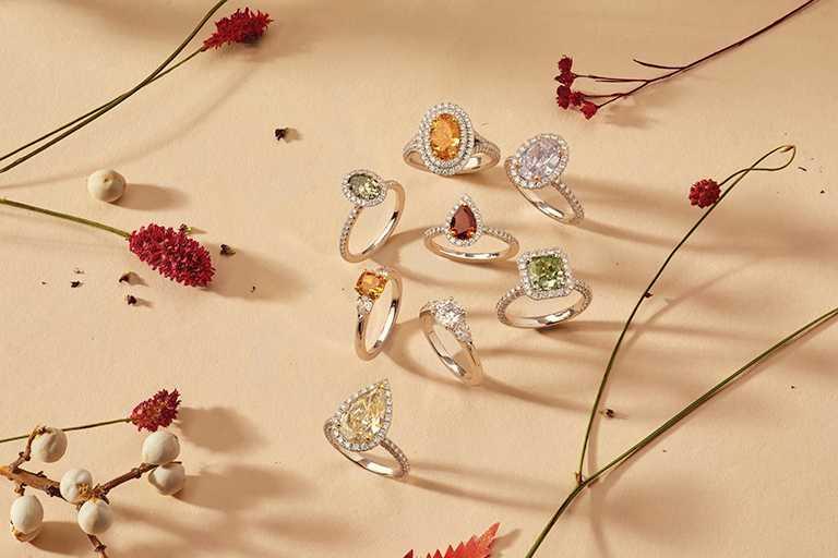 DE BEERS珍稀彩鑽戒指(圖╱DE BEERS提供)