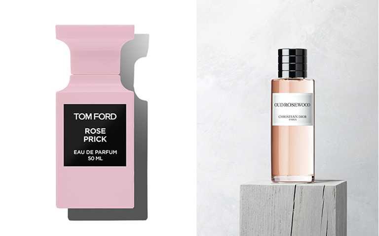 高質感的粉色系香氛,在經典花果香中加入中性味,柑苔跟木質調都能展現溫柔的力量。【圖/TOM FORD,DIOR提供】