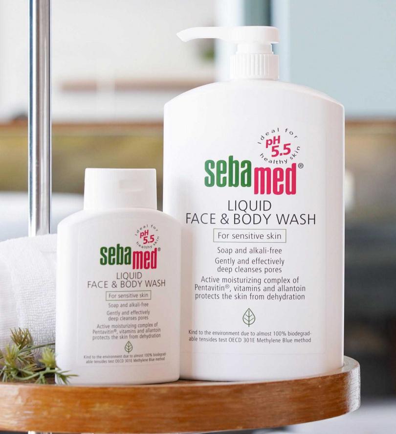 圖2/施巴pH5.5潔膚露的微酸性溫和清潔、高效保濕成份,讓洗澡即保養,幫助皮膚穩定。(圖/品牌提供)