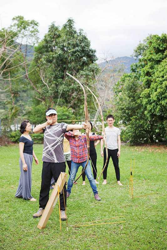 射箭是體驗營中反應熱烈的課程之一。