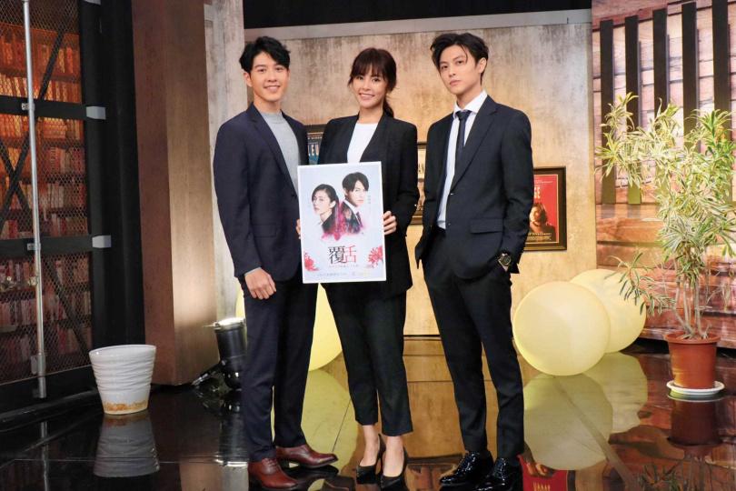 近期吳岳擎和邱勝翊、任容萱,都忙著宣傳新作《覆活》。(圖/八大電視提供)