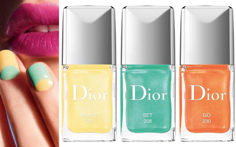 Dior迪奧指甲油仲夏遊樂園限量版 #120、#208、#230 各10ml/880元(圖/品牌提供)