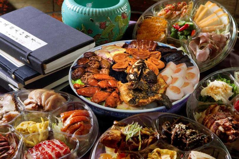 富貴大盆菜+君品大四喜。(圖/君品酒店提供)