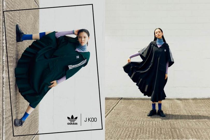 adidas Originals by J KOO聯名系列酒紅配色與炭黑配色將於12月上市。(圖/adidas Originals)