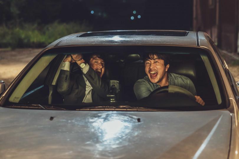 與鄭俊鎬在車上的搞笑戲,讓權相佑印象深刻。(圖/甲上提供)