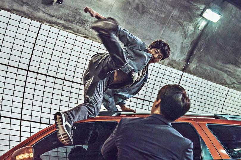 權相佑認為隧道裡的打鬥戲是全片最困難的部分。(圖/甲上提供)