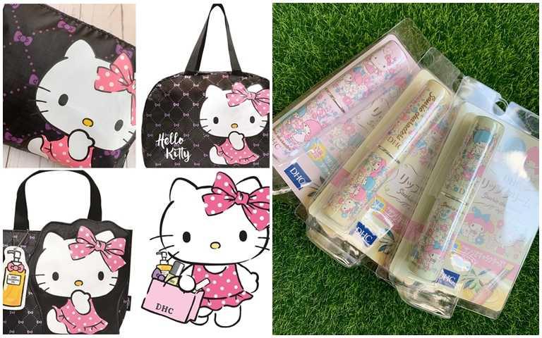 只送不買的軟萌Hello Kitty提袋,還有獨家限定三麗鷗明星純欖護唇膏,全都太值得收藏了。(圖/吳雅鈴攝影、品牌提供)