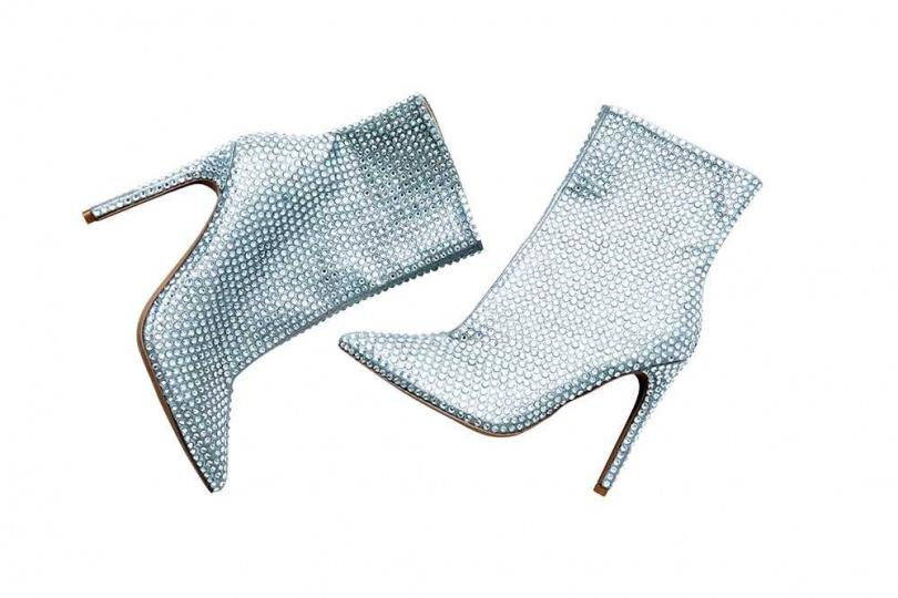 STEVE MADDEN Winnings水鑽高跟中筒靴/價格店洽(攝影/莊立人)