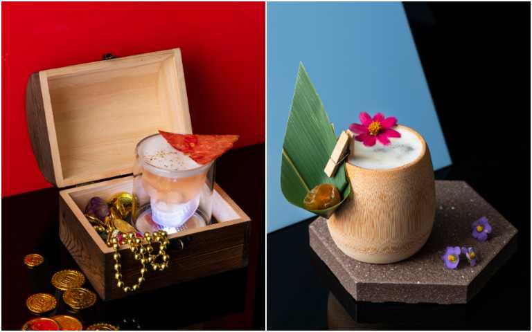 台味檳榔攤(右)、百慕達三角洲。(圖/香格里拉台北遠東國際大飯店提供)
