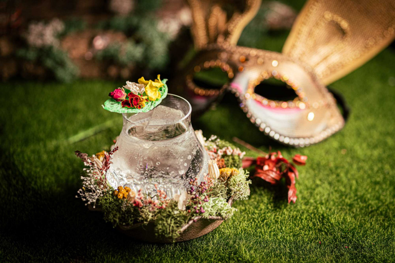 花神角色調酒Flower 。(圖/LORE Taipei提供)