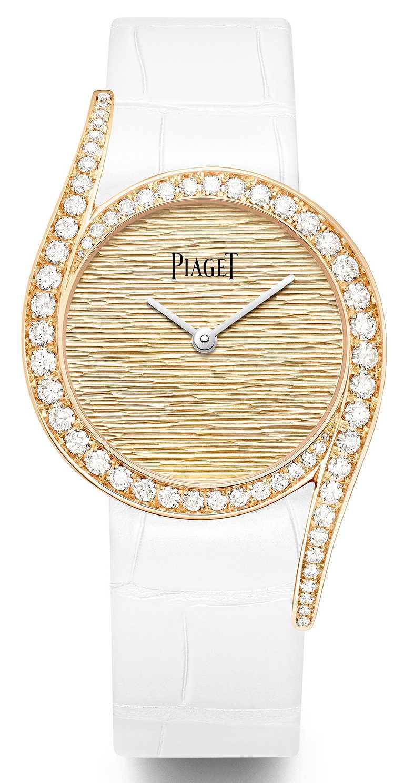 PIAGET「Limelight Gala」系列,18K玫瑰金高級珠寶鑽石腕錶,32mm,18K玫瑰金錶殼,伯爵製501P1型自動上鏈機芯,鑽石62顆╱1,220,000元。(圖╱PIAGET提供)