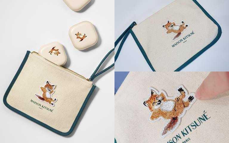 LANEIGE*Maison Kitsune NEO型塑霧感氣墊+小狐狸限量聯名化妝包/1,850元  10/14起全台蘭芝專櫃限量開賣。(圖/品牌提供、吳雅鈴攝影)