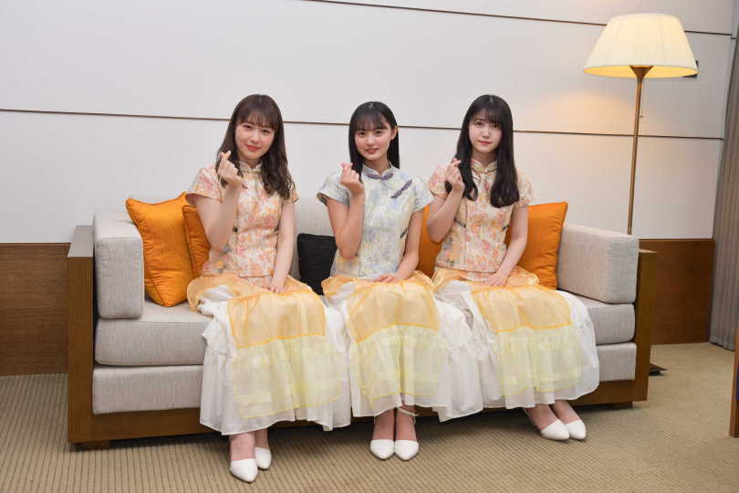 高山一實(左)想要後輩喊她「小一」,遠藤櫻(中)和久保史緒里(右)卻沒膽叫。(圖/索尼音樂提供)