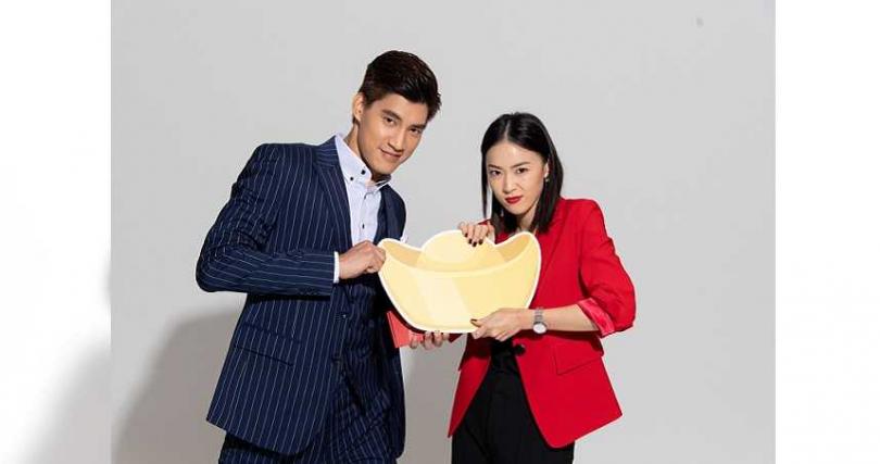 羅宏正(左)和鍾瑶今年難得放3天年假,只想在家放空。(圖/三立提供)