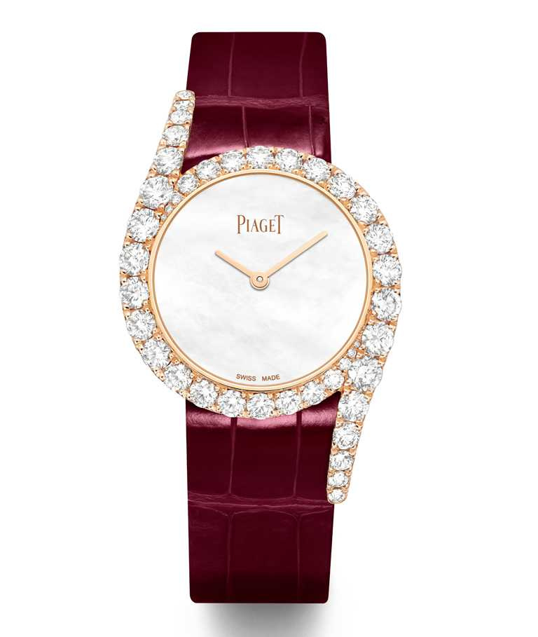 PIAGET「Limelight Gala」系列,18K玫瑰金鑲鑽珠寶腕錶╱1,178,000元。(圖╱PIAGET提供)