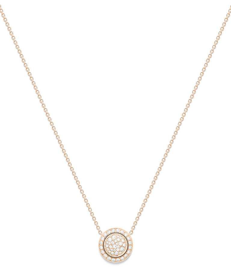 PIAGET「Possession」系列,玫瑰金鑽石墜鍊╱198,000元。(圖╱PIAGET提供)