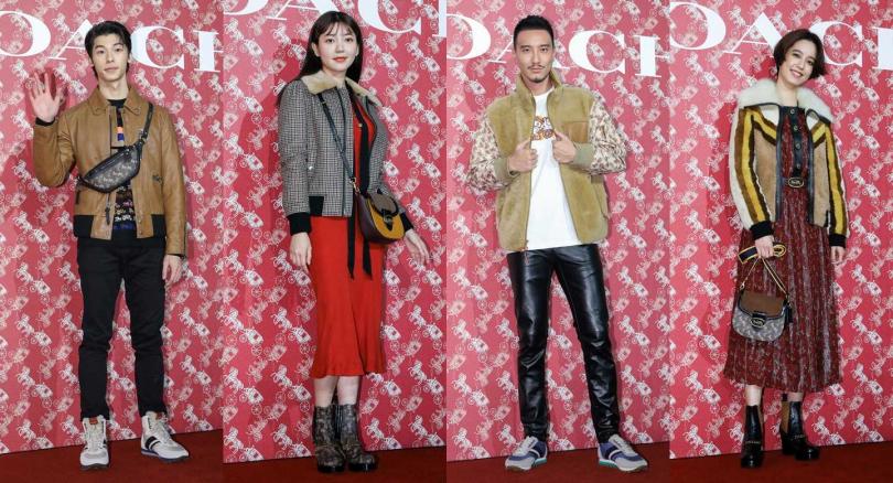 許光漢、郭雪芙、王陽明和陳庭妮用各自獨特的品味穿出美式復古時尚。(圖/CTWANT)