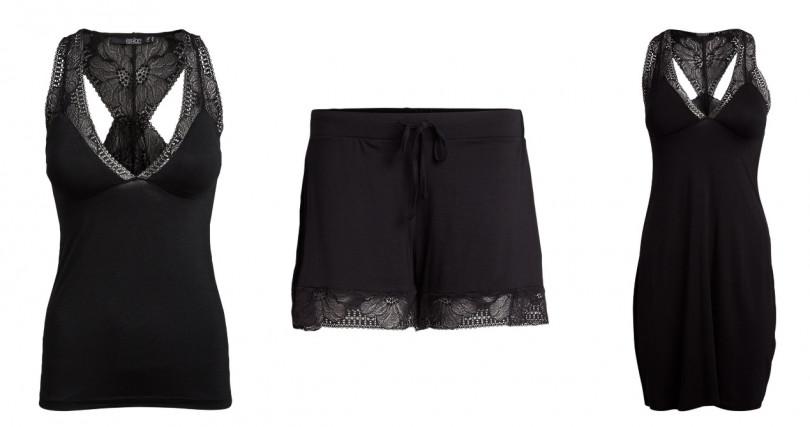 chantelle Sarah系列上衣/3,980元、Sarah系列短褲/2,580元、Sarah系列洋裝/4,980元 甚至就連包覆在肌膚上的睡衣質地也會影響舒適度,選擇不會引發肌膚敏感刺激的柔滑材質才正確。(圖/品牌提供)