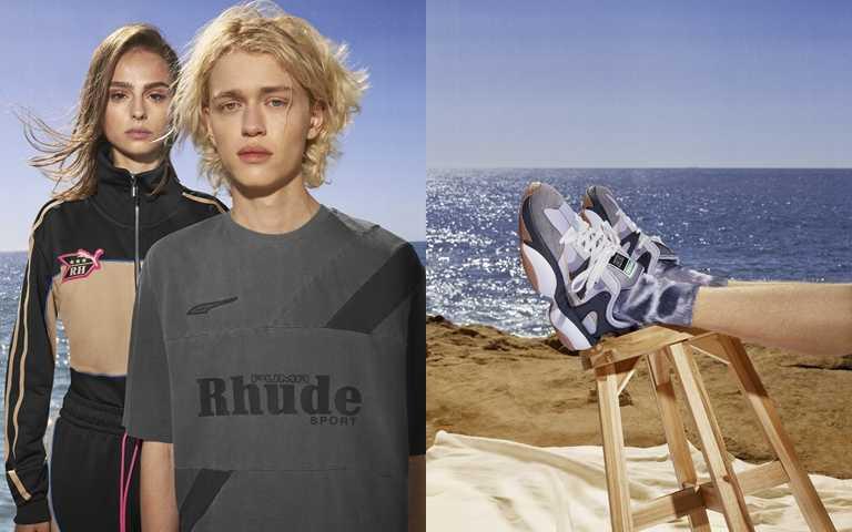 PUMA SELECT x RHUDE聯名系列在賽車運動元素中增添柔和內斂的復古氛圍,帥氣展現街頭時尚。(圖/PUMA)