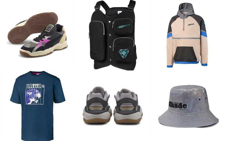 聯名鞋款及服飾上利用許多細節技巧融入品牌精神與賽車運動文化。(圖/PUMA)