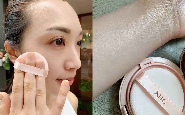 櫻花粉可以把台灣女孩不喜歡的暗沉感給中和掉,不管是全臉上或是局部打亮都很美。(圖/吳雅鈴攝影)