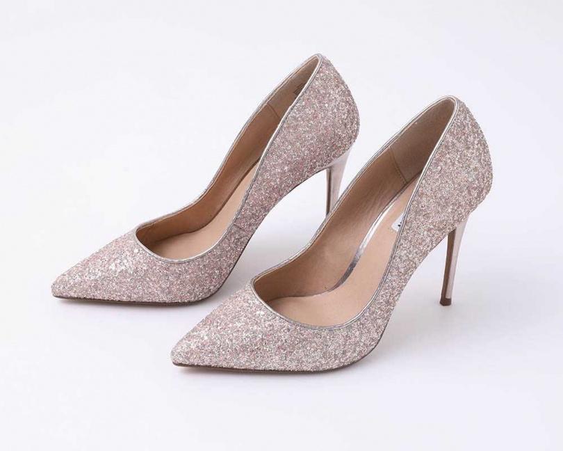 STEVE MADDEN Daisie Glitter Multi高跟鞋 約4280元(攝影/戴世平)