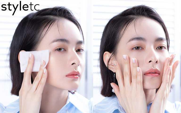 擦拭化妝水時要注意膚質狀況,太乾的時候盡量減少摩擦用手輕拍按壓最好!(圖/愛女生)
