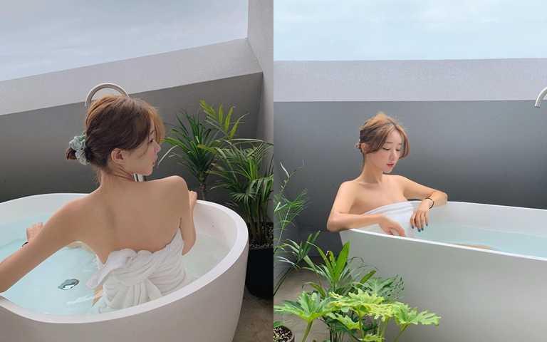待在浴室裡的時間至少要半小時才會出來XD。(圖/IG@vivamoon )
