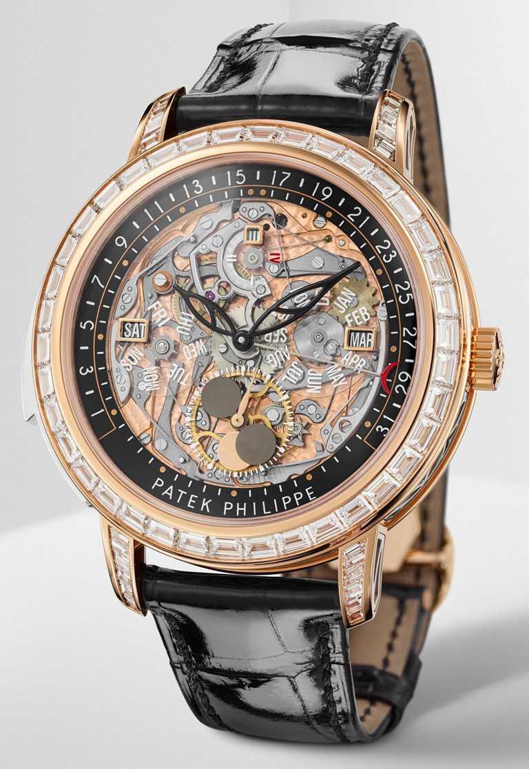 PATEK PHILILPPE「頂級複雜功能自動上弦腕錶」玫瑰金款,編號5304/301R-001。(圖╱PATEK PHILILPPE提供)