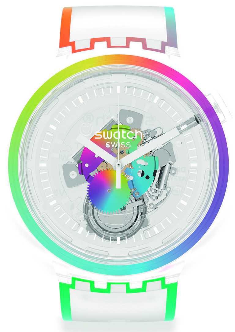 SWATCH「Pride」系列「Alla Parata」腕錶╱3,150元。(圖╱SWATCH提供)