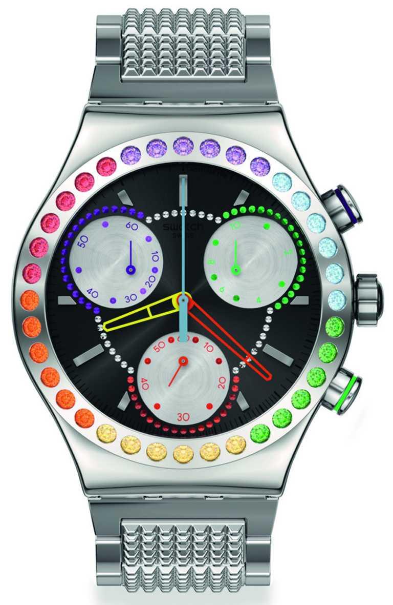 SWATCH「Pride」系列「Paradons」腕錶╱7,900元。(圖╱SWATCH提供)