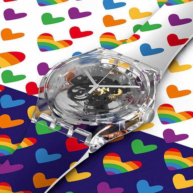 SWATCH「Pride Square」SXY客製畫布。(圖╱SWATCH提供)