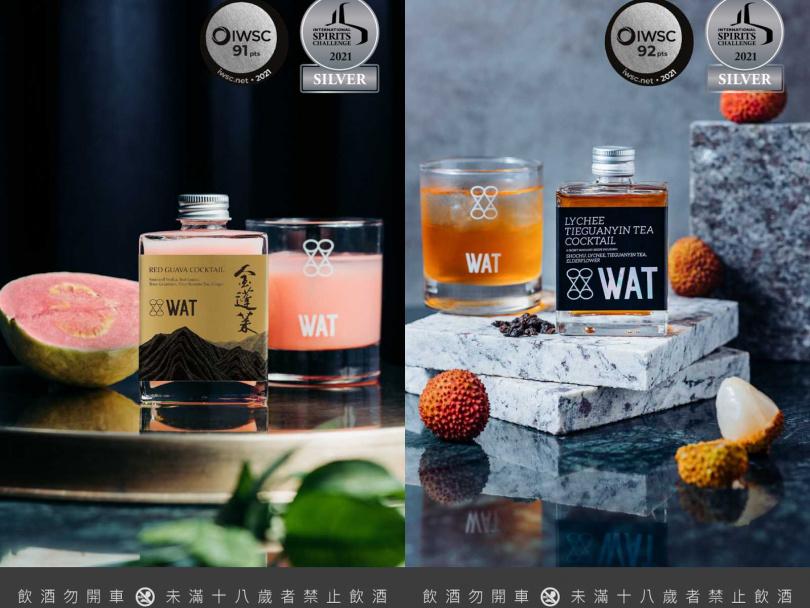 「紅心芭樂雞尾酒 」以及「貴妃鐵觀音雞尾酒」皆在ISC、IWSC競賽中奪得銀牌。(圖/WAT)