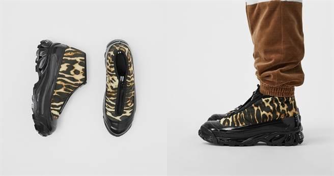 豹紋尼龍和麂皮Arthur運動鞋TWD30,900 (圖/翻攝自Burberry官網)