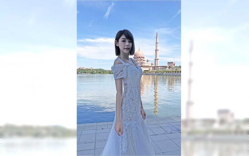 林明禎挑選的婚紗款式相當典雅。(圖/種子音樂)