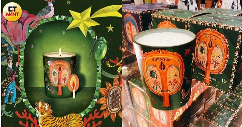 diptyque限量版蒼松庇佑(Pin Protecteur)香氛蠟燭190g/2,450元 。(圖/黃筱婷攝影、品牌提供)